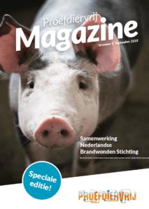 cover proefdiervrij masgazine nr 3, 2018